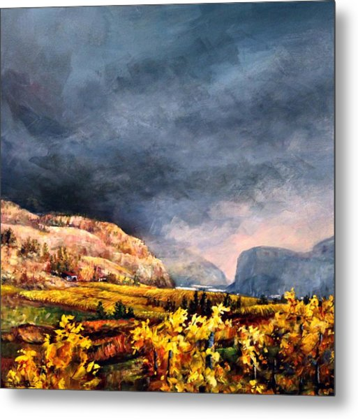 Autumn Wine Metal Print
