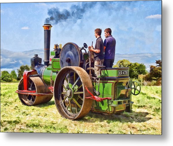 Metal Print featuring the photograph Aveling Roller by Paul Gulliver