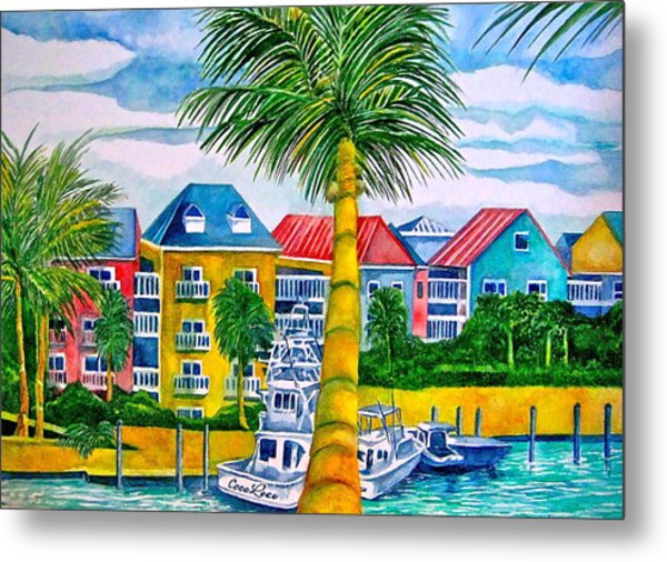 Bahamian Blues Metal Print