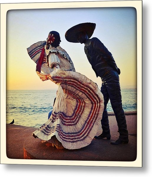 'bailarines De Vallarta' By Jim Demetro Metal Print