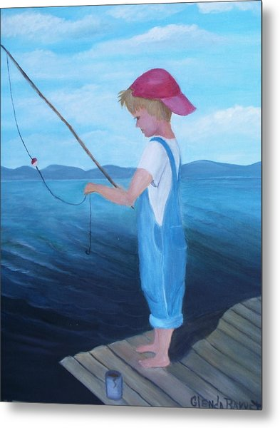 Bait Stealers Metal Print by Glenda Barrett