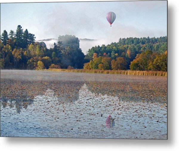 Balloon Rise At Dawn Metal Print by Gloria Merritt