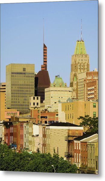 Baltimore Skyline, Maryland Metal Print