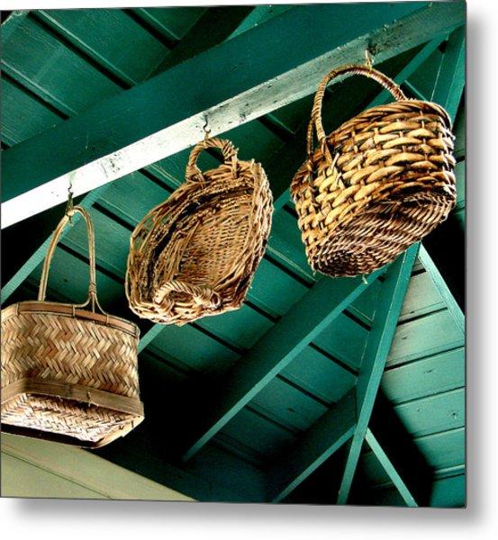 Baskets  Metal Print