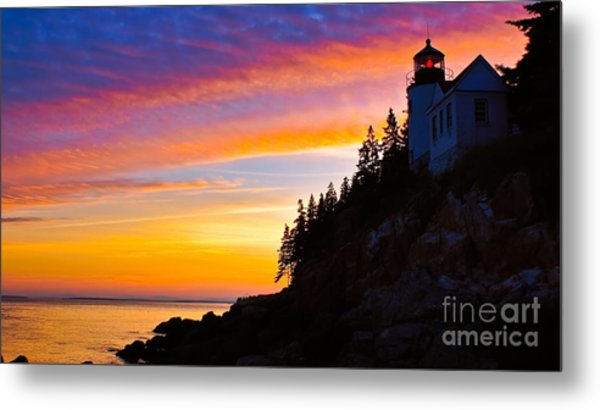 Bass Harbor Head Light.  Metal Print