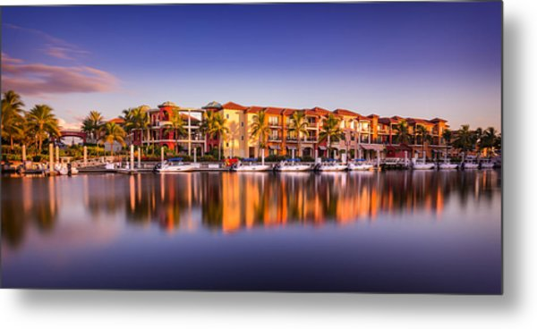 Bay Resort Naples Florida Metal Print