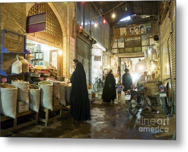 Bazaar Market In Isfahan Iran Metal Print