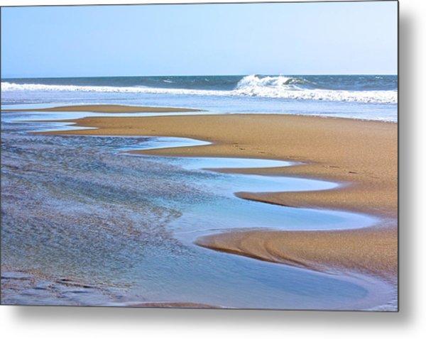 Beach Hand Metal Print