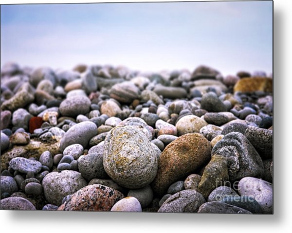 Beach Pebbles Metal Print