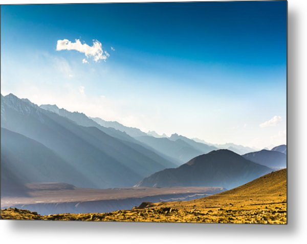 Beautiful Landscape In Norther Part Of India Metal Print by Primeimages