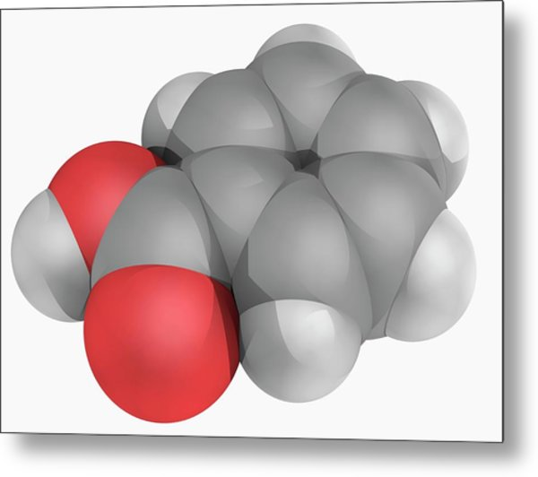 Benzoic Acid Molecule Metal Print by Laguna Design/science Photo Library