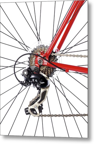 Bicycle Rear Gears Metal Print
