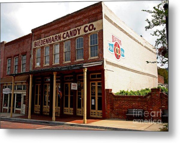 Biedenharn Candy Co Metal Print by Russell Christie
