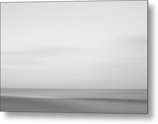 Black And White Abstract Seascape No. 01 Metal Print
