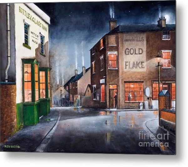 Black Country Village Centre Metal Print