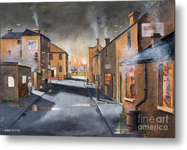 Black Country Village From The Boat Yard Metal Print