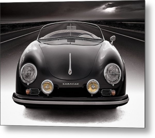 Black Porsche Speedster Metal Print