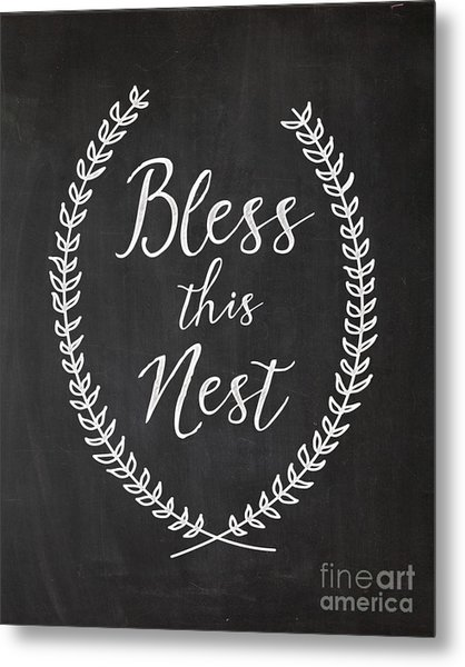 Bless This Nest Metal Print