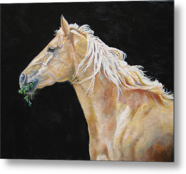 Blondy Metal Print