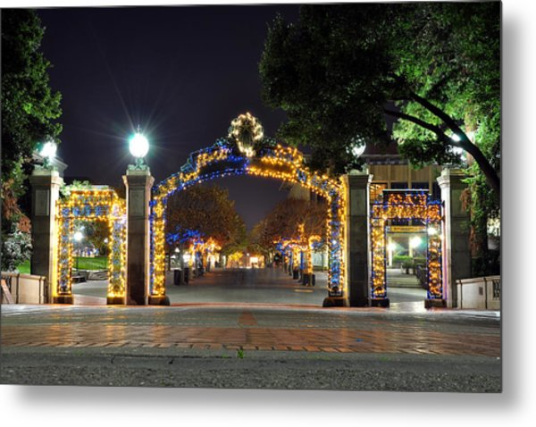 Blue And Gold Sather Gate Metal Print