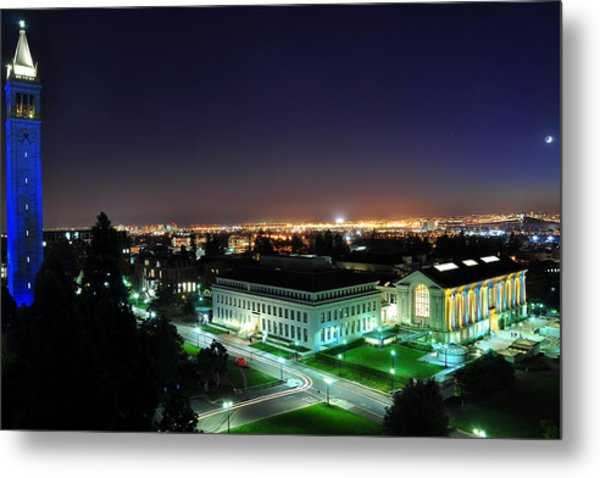 Blue Campanile And Doe Library Metal Print