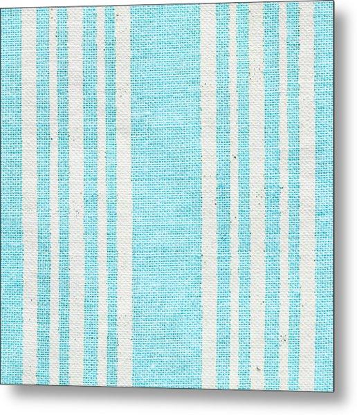 Blue Fabric Metal Print