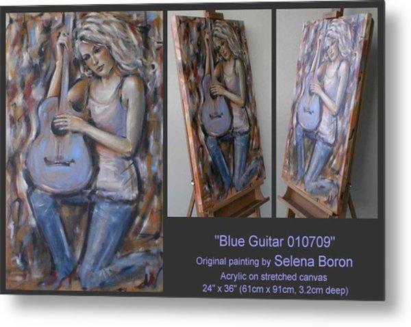 Blue Guitar 010709 Metal Print