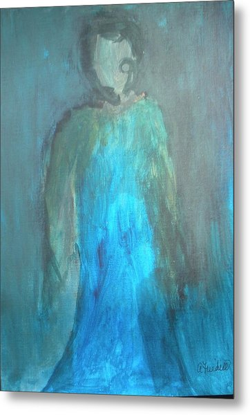 Blue Lady Metal Print by Andrea Friedell