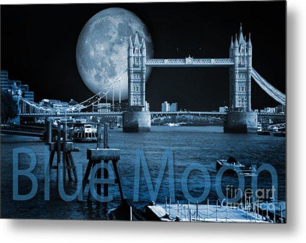 Blue Moon Metal Print by Donald Davis
