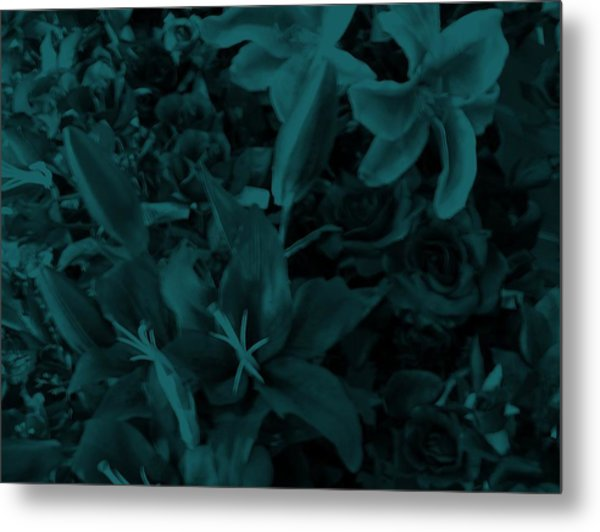 Blue On Blue Metal Print