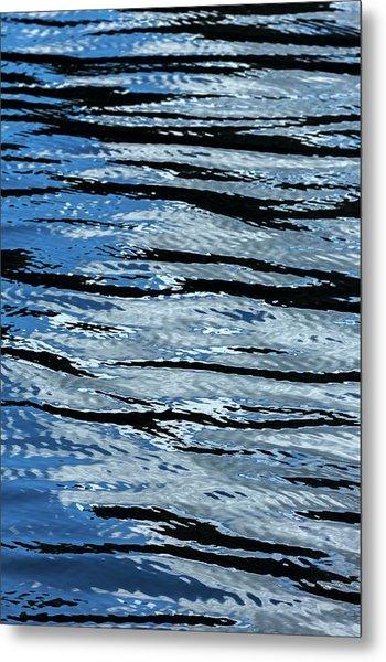 Blue Rippled Water Of British Columbias Metal Print