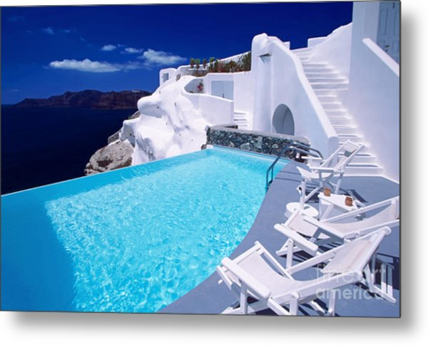 Blue Soda Metal Print by Aiolos Greek Collections
