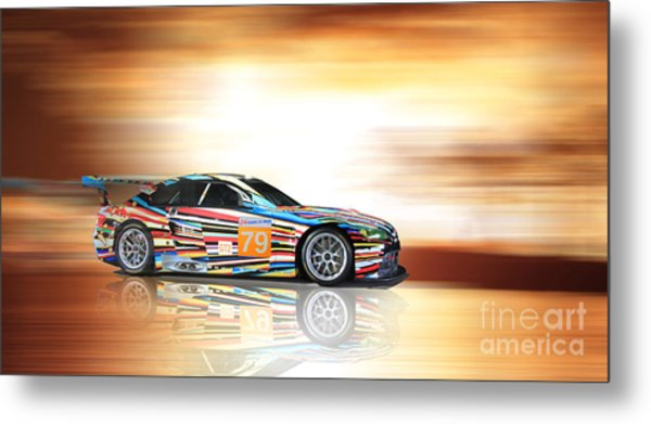 Bmw M3 Art Car Metal Print
