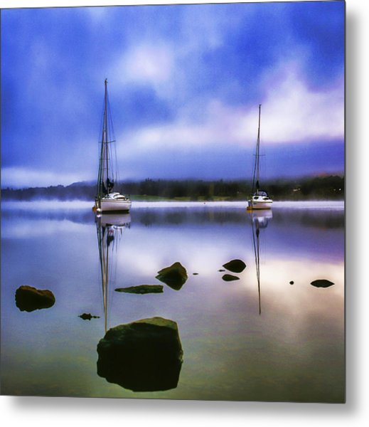 Boats On Ullswater Metal Print