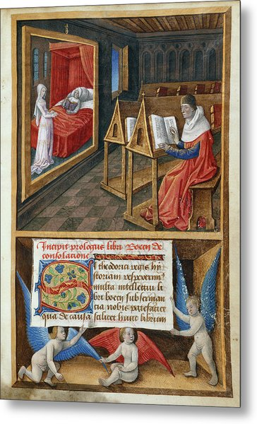 Boethius And Philosophy Metal Print
