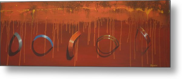 Bossini 5 Rings Metal Print by Clive Holden