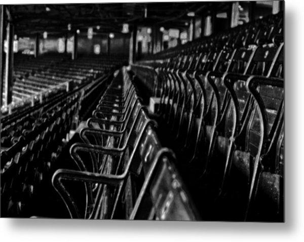 Bostons Fenway Park Baseball Vintage Seats Metal Print