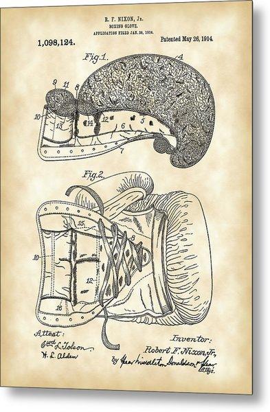 Boxing Glove Patent 1914 - Vintage Metal Print