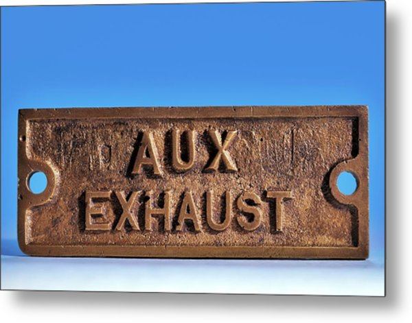 Brass Sign From The Titanic Metal Print by Patrick Landmann/science Photo Library