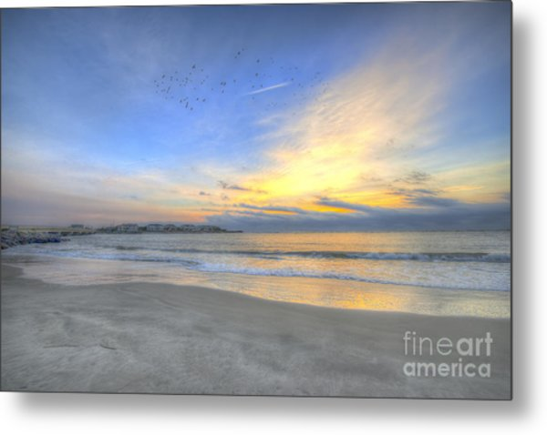 Breach Inlet Sunrise Metal Print