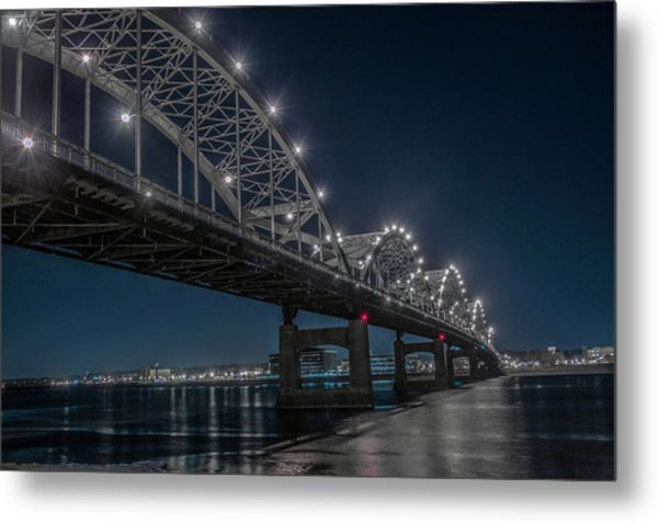 Bridge Lights Metal Print