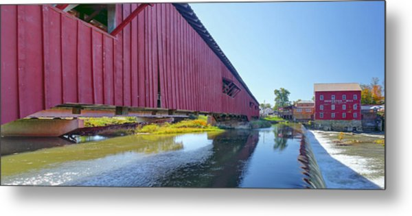 Bridgeton Bridge And Mill Metal Print