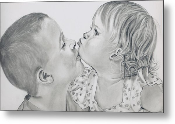 Brotherly Love Finished Metal Print