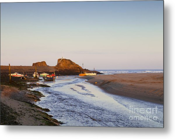 Bude Cornwall England Summerleaze Beach Metal Print by Colin and Linda McKie