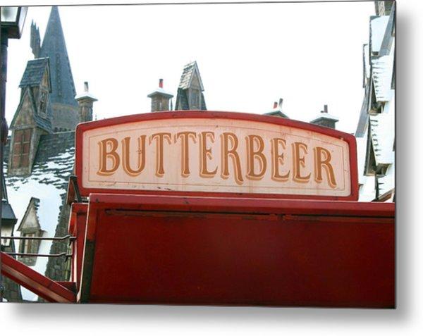 Butterbeer Sign Metal Print