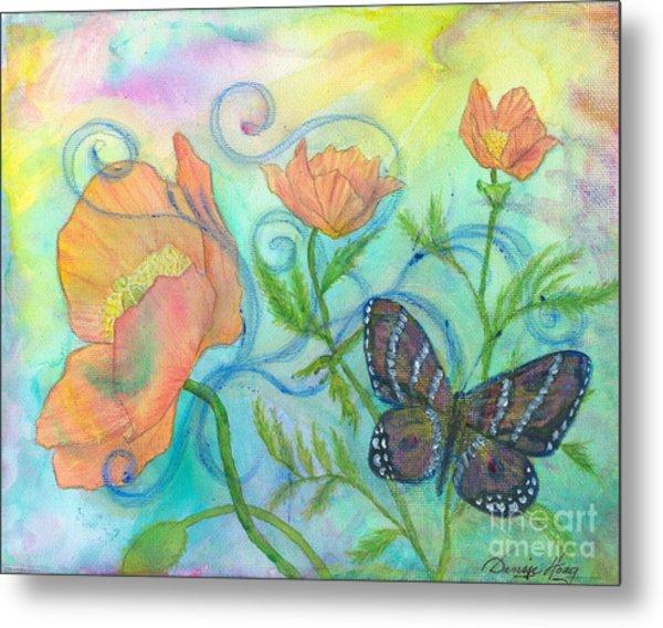 Butterfly Reclaimed Metal Print