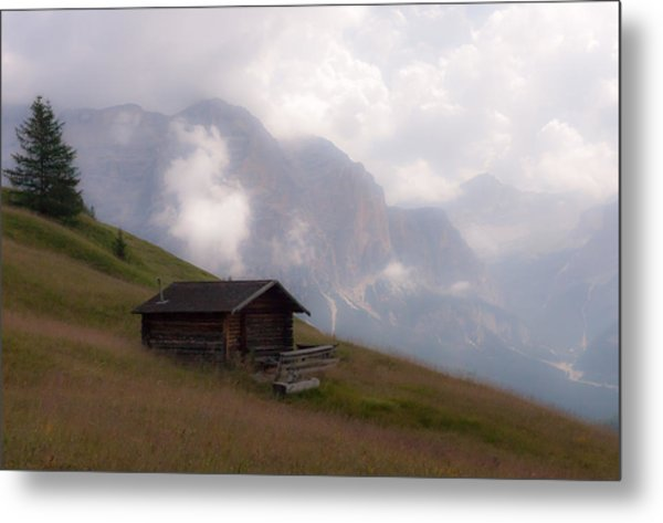 Cabin In The Dolomites Metal Print