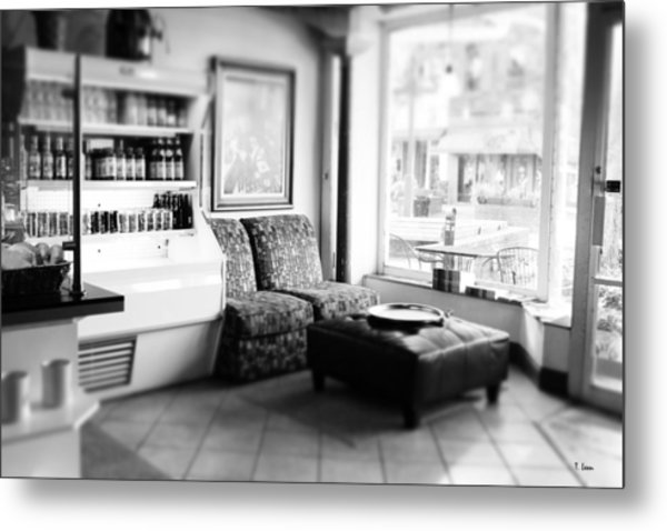 Cafe Metal Print by Thomas Leon