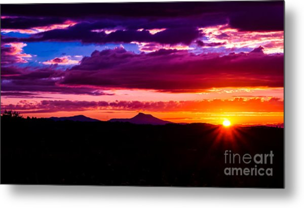 Camel's Hump Sunset.  Metal Print