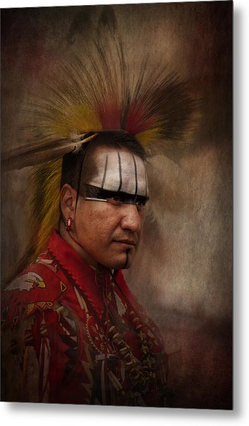Canadian Aboriginal Man Metal Print